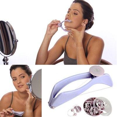 Cotton Thread Plucker Facial Epilator Hair Removal Clip Woolen Thread Facial Hair Clip Threading Too
