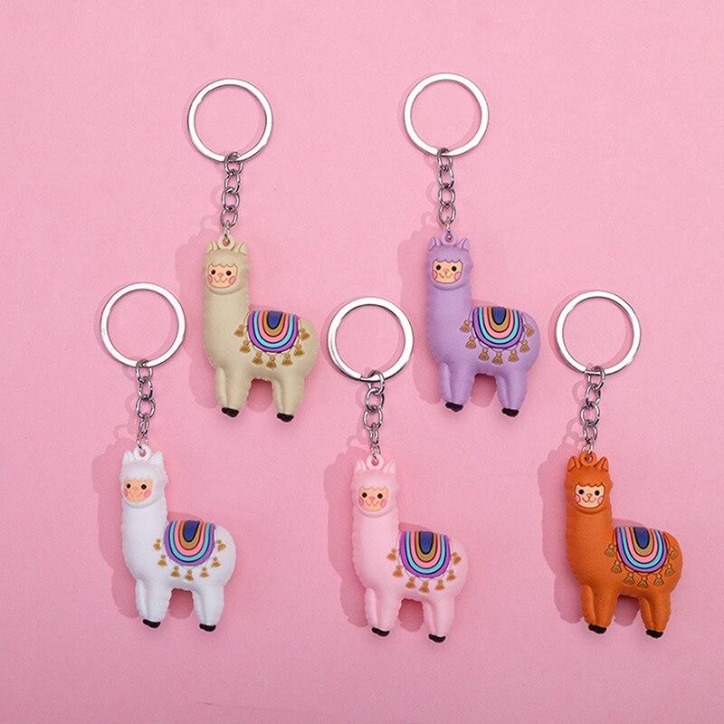 1 шт. креативный мультяшный брелок в виде альпаки, лама, брелок для ключей, женский, милый, эпоксидный, альпака, брелки, безделушки, подарки