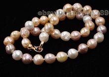 Vente en gros livraison gratuite mélange naturel 9-10mm sillon Kasumi véritable collier de perles 45cm