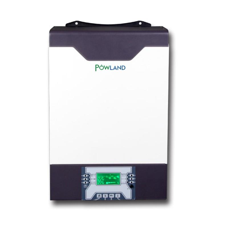 500Vdc 5000 واط 80A MPPT موازية 48 فولت 230VAC نقية شرط موجة عاكس شمسي هجين مع شاحن بطارية