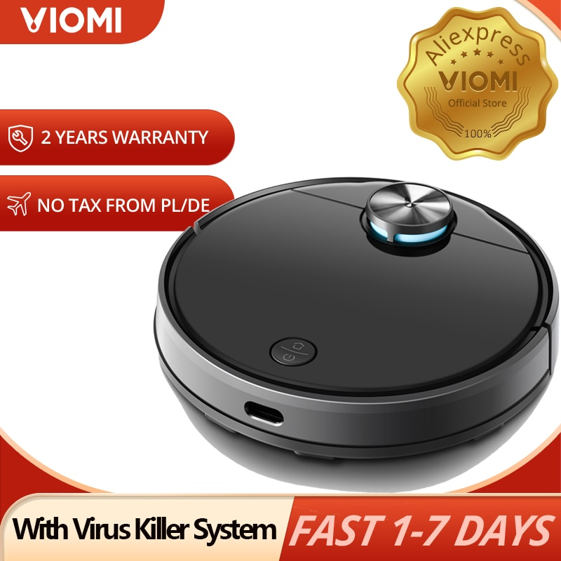 VIOMI V3 LDS nawigacja laserowa odkurzacz Robot, 2600Pa na sucho i mokro do sierść zwierząt zamiatanie mopem mistrz