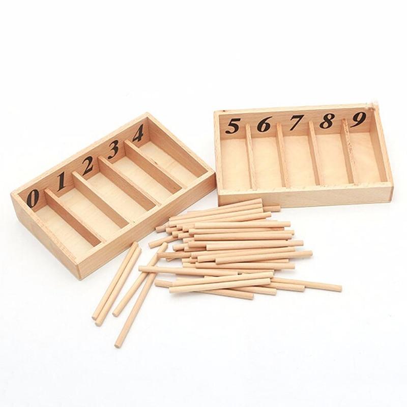 Монтессори математические игрушки Математика материалы Монтессори обучающая деревянная коробка шпинделя обучающая игрушка для раннего о...