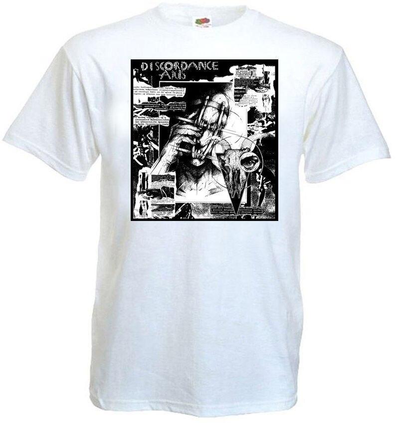 Discordance Axis Ulterior Футболка белая Hardcore Punk все размеры s S 3Xl Мужская футболка 2018 летняя футболка из 100% хлопка размера плюс