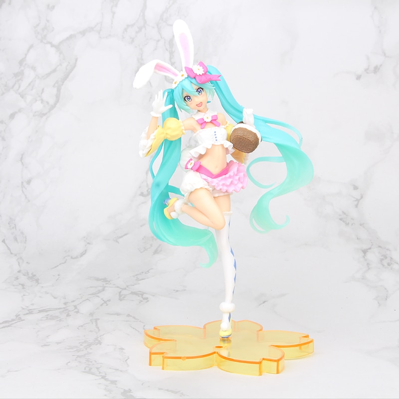 24cm Anime Rosa Hatsune Miku Sakura de figuras de acción juguetes de Miku Speelgoed chicas de PVC figura modelo Juguetes