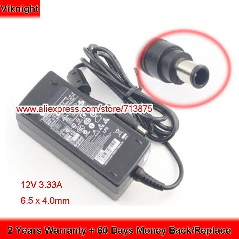 Оригинальный 12V 3.33A 40W 6,5x4,0mm LCAP07 PA-1041-0 адаптер переменного тока для Lg S2330MX источник питания