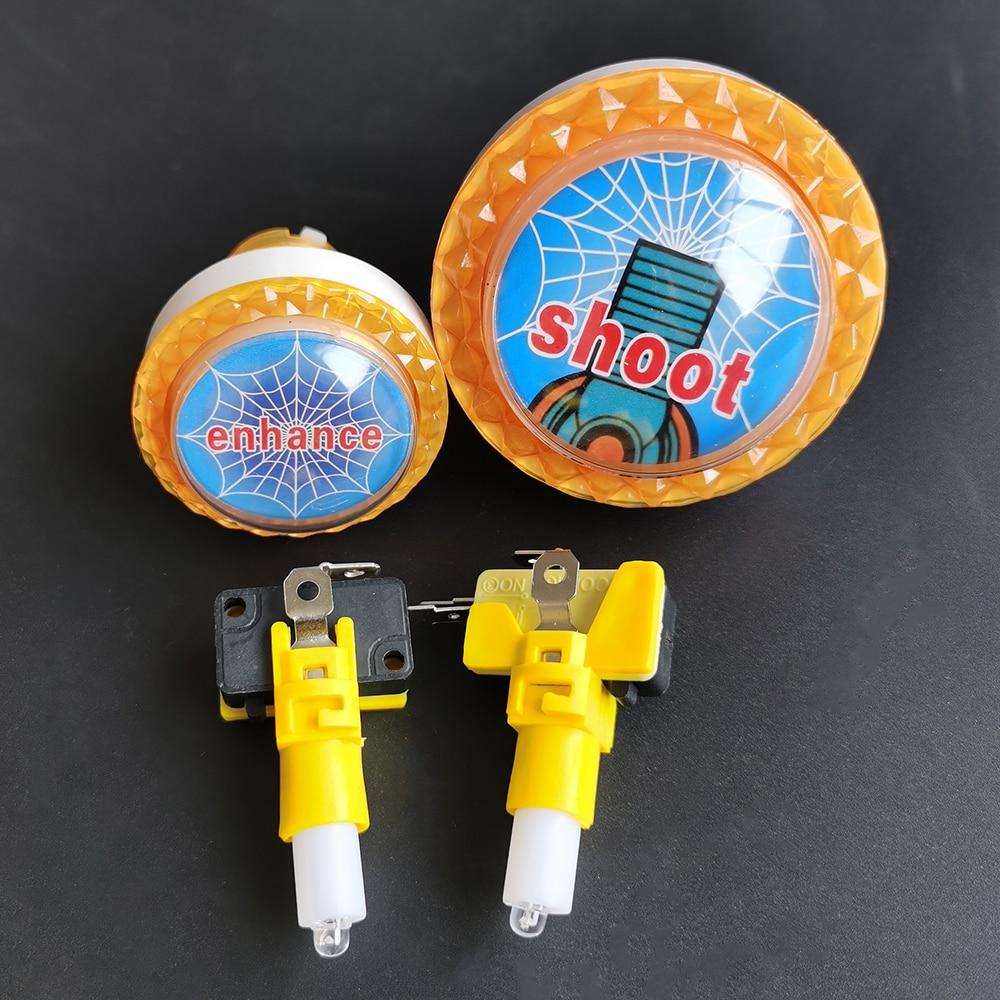 1 блок 60 мм 45 мм аркадный кнопочный переключатель светодиодный микро переключатель рыбий Охотник игра Мгновенный кнопочный переключатель с...