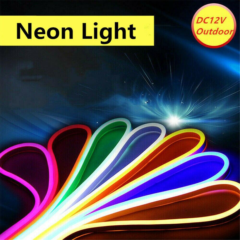 Неоновая СВЕТОДИОДНАЯ лента SMD 2835, 1-10 м, водонепроницаемая светодиодная лента 120 светодиодов/м, неоновая Светодиодная лента, красная/зеленая...