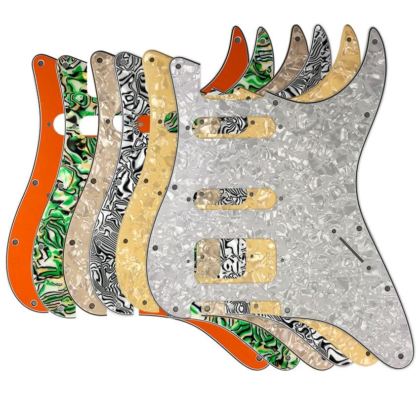 Pleroo-accesorios para guitarra, 11 tornillos, golpeador de agujero, sin agujero de Control...