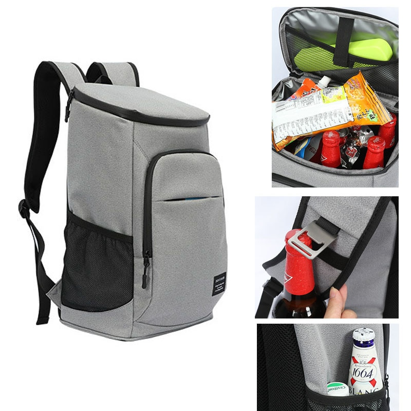 DENUONISS 30L Soft Cooler Bag 100% Leakproof Cooler Backpack 600D Oxford Waterproof Picnic Travel Thermal Insulated beer Bag
