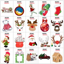 Resin Flatback 30pcs/lot Christmas Santa Claus Jewelry Material Garment DIY Craft Supplies For Holid