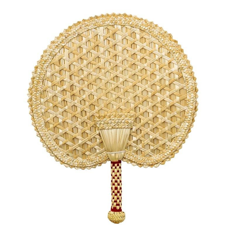 Abanico de mano clásico de estilo chino, abanico Vintage de paja de...