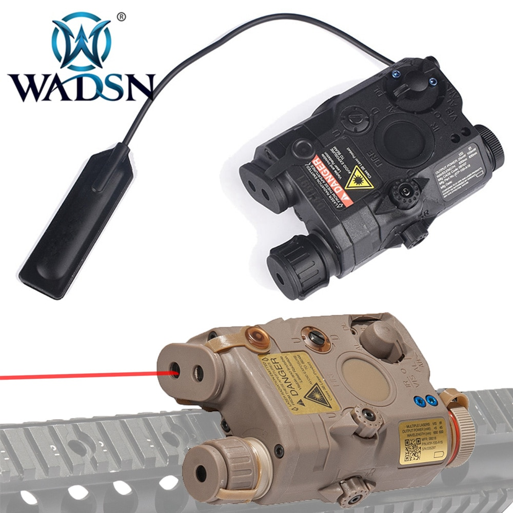 WADSN LA-5 PEQ-15 arma táctica luz punto rojo IR láser indicador CS Airsoft linterna exploradora para accesorios de caza