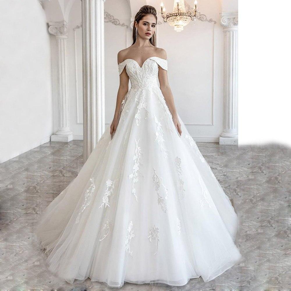 فستان زفاف بوهو ، مثير ، رقبة قارب ، رسن ، دانتيل ، كريستال ، مجموعة جديدة 2021