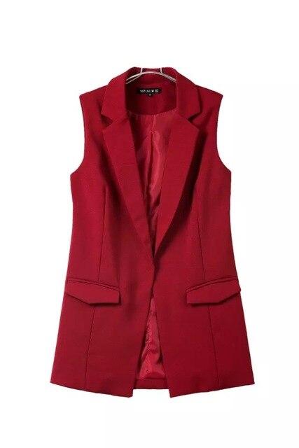 Блейзер, повседневный женский жилет, жилет, женский длинный костюм, жилет, Женская куртка, пальто, черный офисный жилет с карманами для женщи...