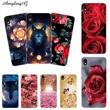 Soft Phone Case For Tecno Pouvoir 1 Pouvior1 LA6 Case Print Back Cover For Tecno Pouvior 2 Pro LA7 Cartoon Rose Patterned Shell