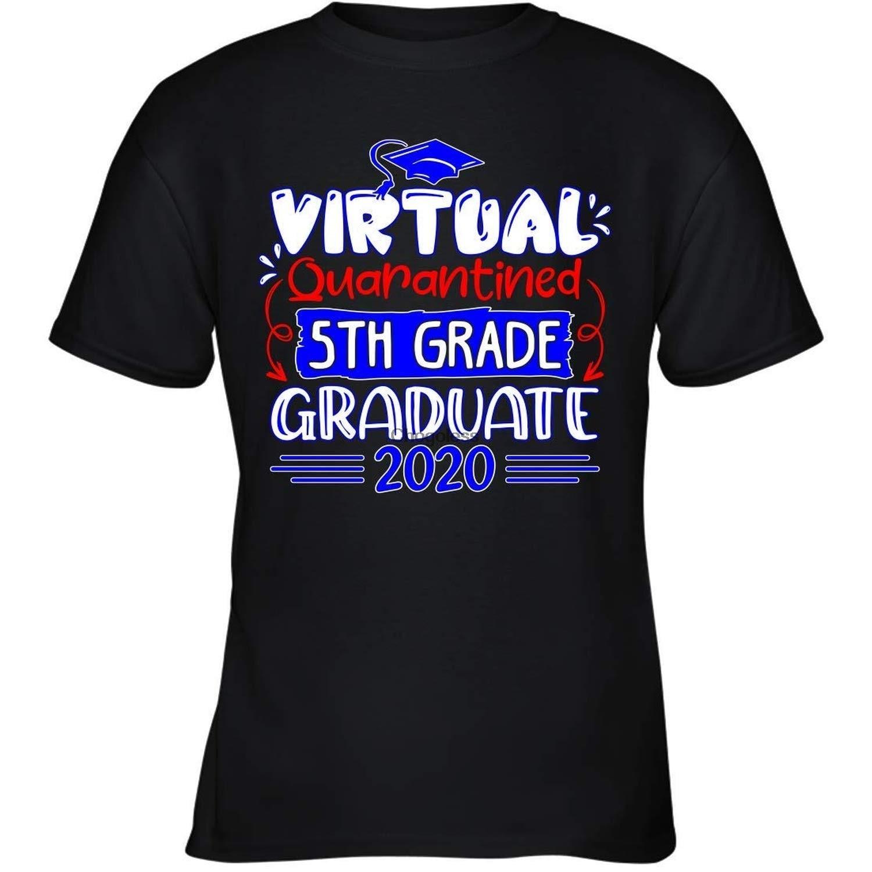 Virtual en cuarentena 5th Grado graduado de 2020 DM camiseta con capucha...