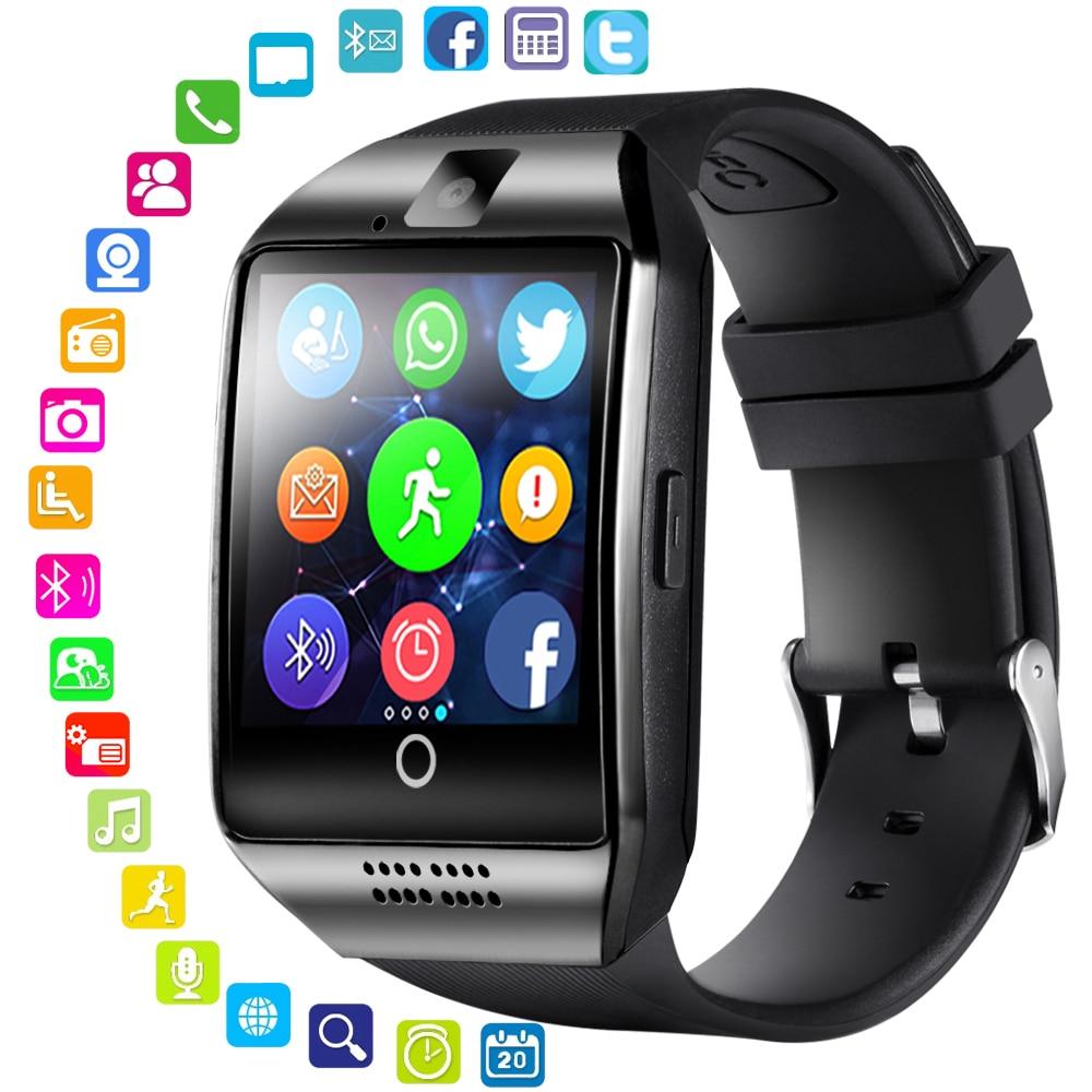 Smart Watch With Camera Q18 Bluetooth Smartwatch SIM TF Card Slot Fitness Activity Tracker Sport Wat