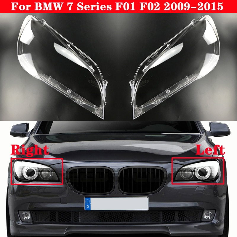 Car Front Headlight Lens Cover For BMW 7 Series F01 F02 2009-2015 Auto Headlamps Lampcover Transparent Lampshades Lamp Shell
