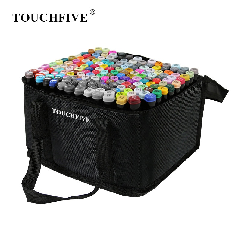 TouchFIVE 30/40/60/80/168 Colors Markers Manga Drawing Markers Pen Alcohol Based Sketch Felt-Tip Twin Brush Pen Art Supplies