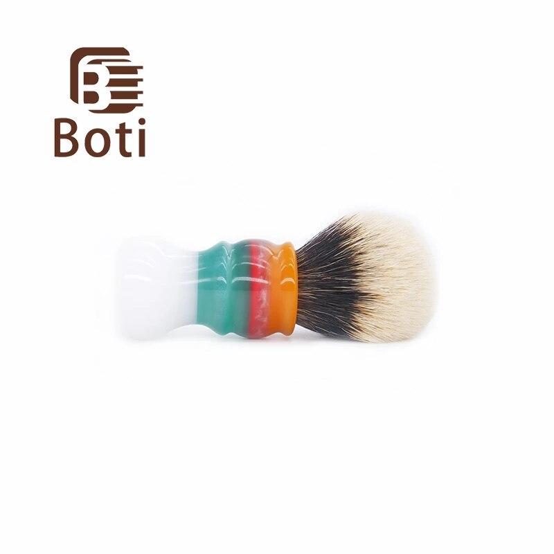 Boti Brush-Shaving Brush Jam White Clouds And SHD NC Chubby Badger Hair Knot Bulb Type Handmade Men's Beard Brush Shaving Kit