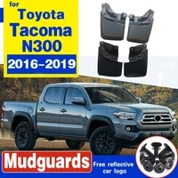 front rear car mudflap for toyota tacoma n300 2016 2019 fender mud guard splash flaps mudguards accessories 2017 2018 3rd 3 gen