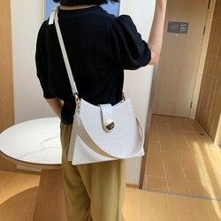 Cor sólida bolsa de ombro feminina de couro do plutônio padrão de pedra saco de moda das senhoras corrente bolsa de ombro feminino cruz saco de corpo sac principal