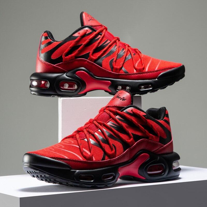 أحذية ركض رجالية مبطنة بالهواء ، أحذية ركض مسامية ، أحذية رياضية للتدريب في الهواء الطلق ، ماراثون ، صيف