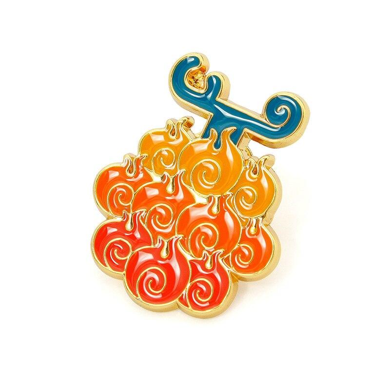 (1 pieza) broches de Metal de una pieza de Anime colorido, insignia de moda, accesorios de Cosplay para regalo