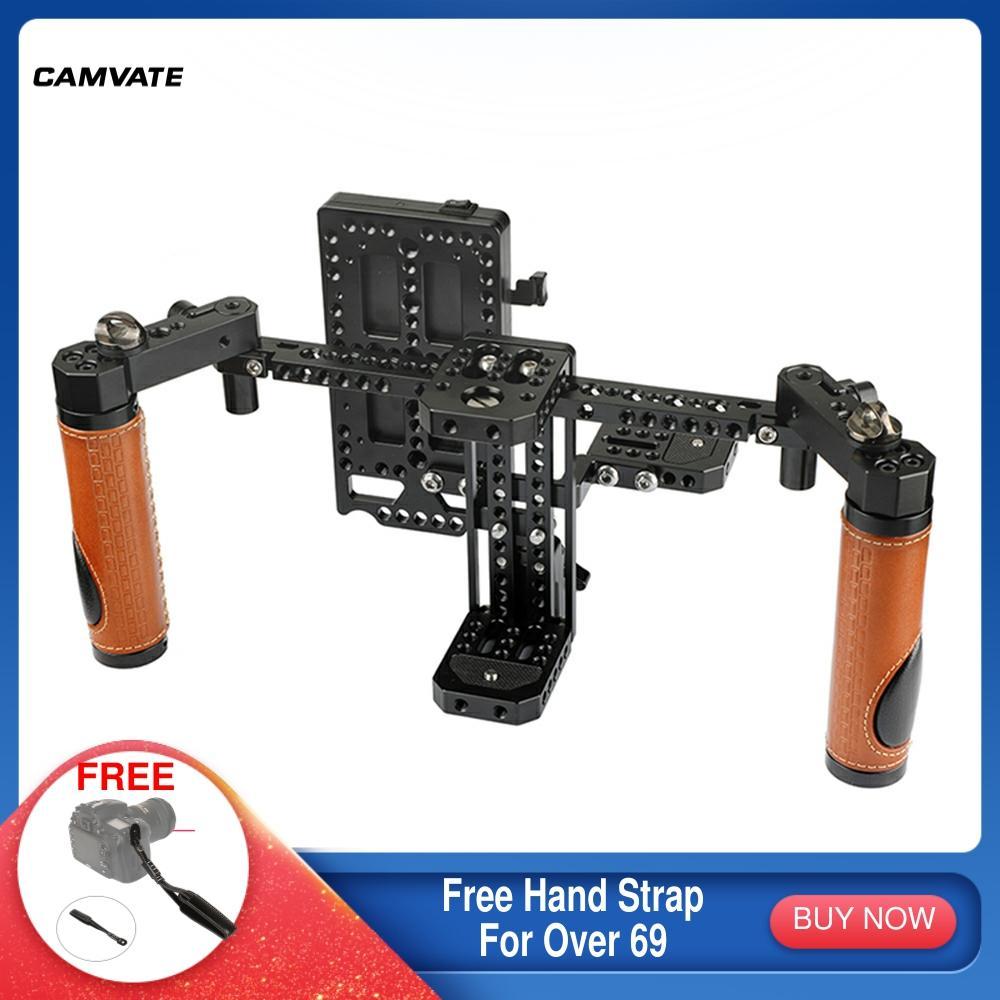 CAMVATE كاميرا المدير رصد قفص تزوير مع مقبض القبضات و Paded الرقبة حزام ل 5
