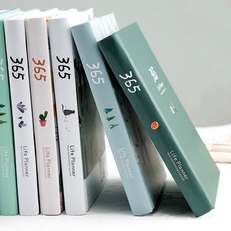 365 agenda agenda agenda caderno colorido página interna ilustração anual plano diário bala diário registro vida papelaria presentes