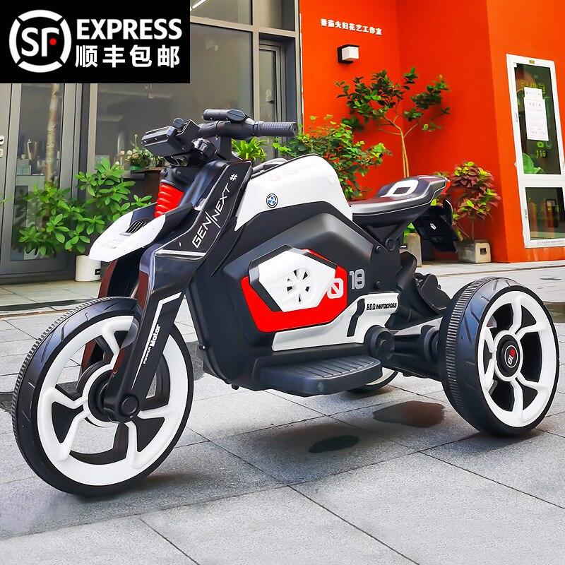 Coche eléctrico para conducción al aire libre, juguete de Moto de Chico,...