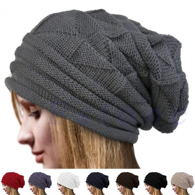 Унисекс, мужская, женская, мужская, зимняя шапка оверсайз, лыжная шапка с напуском, Череп, Зимняя шерстяная теплая Кепка-бини, шапки