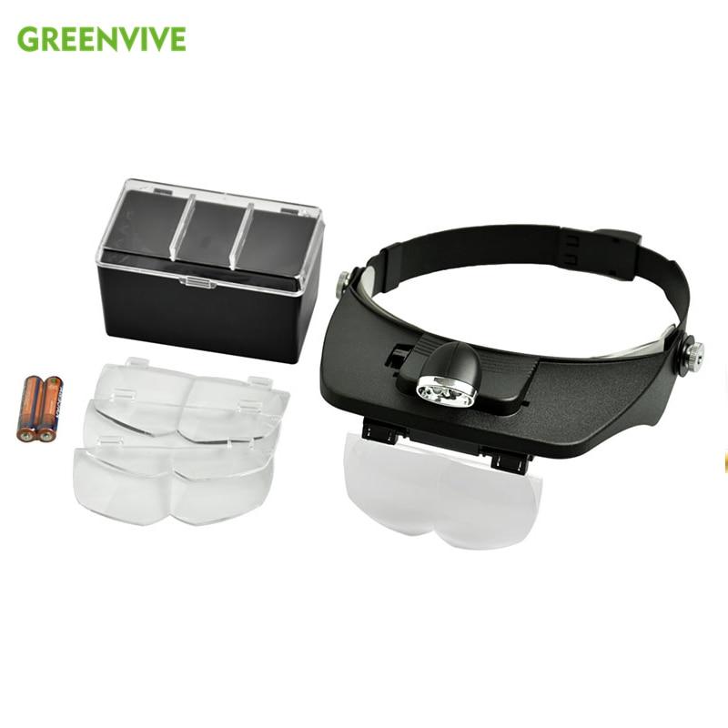 Luz LED de apicultura, equipo de apicultura para usar con lentes magnificados, transporte de larvas, cría de Reina