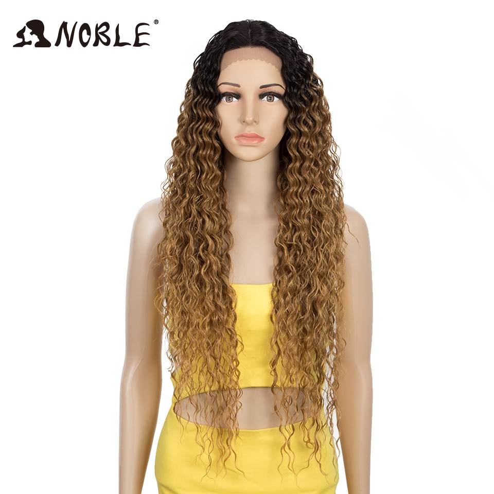 cabelo nobre peruca sintetica de renda longa ondulada 30 polegada perucas loiras
