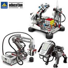 Legoing EV3 Robotik Programmierung Gebäude Block Bildung Kit DAMPF Kompatibel EV5 45544 31313 Roboter DIY Mecanum Rad Spielzeug Geschenk