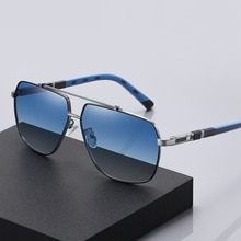 Men Polarized Sunglasses Fashion Oversized Frame Spring Legs Rays Brand Designer Driving Sun Glasses