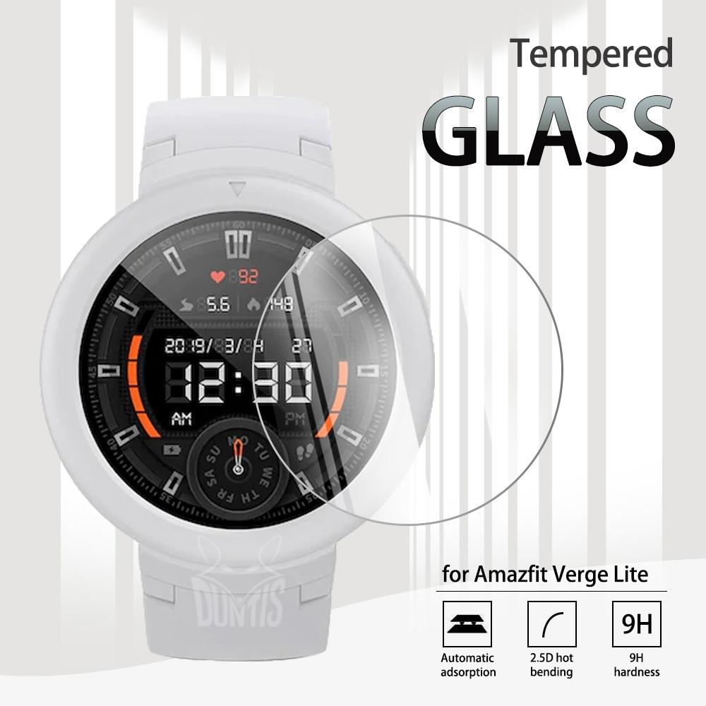 Amazfit Verge Lite Tempered Glass Screen Protector For Xiaomi Huami Amazfit Verge Lite Smart Watch Anti-Scratch Transparent Film transparent screen protector for xiaomi smart sports watch