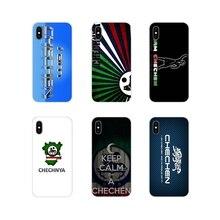 Accessoires housse pour Apple iPhone X XR XS MAX 4 4S 5 5S 5C SE 6 6S 7 8 Plus ipod touch 5 6 je suis de tchétchène Wolf drapeau National