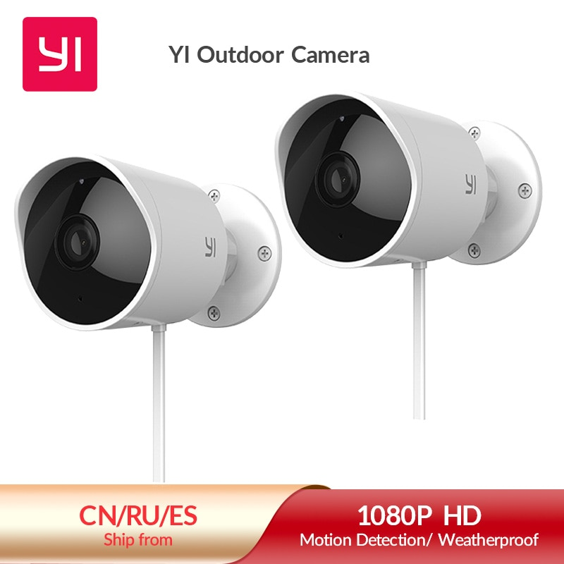 YI Outdoor Camera surveillance camera IP-65 Water-Resistant Housing Cam Night Vision Human Detection