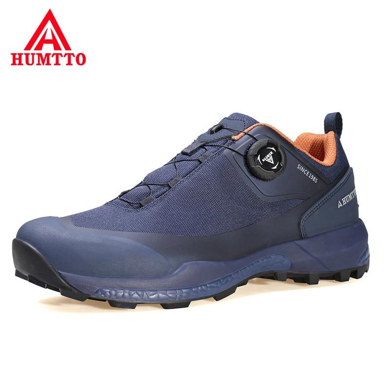 HUMTTO أحذية رياضية الرجال تنفس ماركة العمل المشي أحذية رجالي مصمم فاخر موضة الأسود رياضة الجري حذاء كاجوال للرجال
