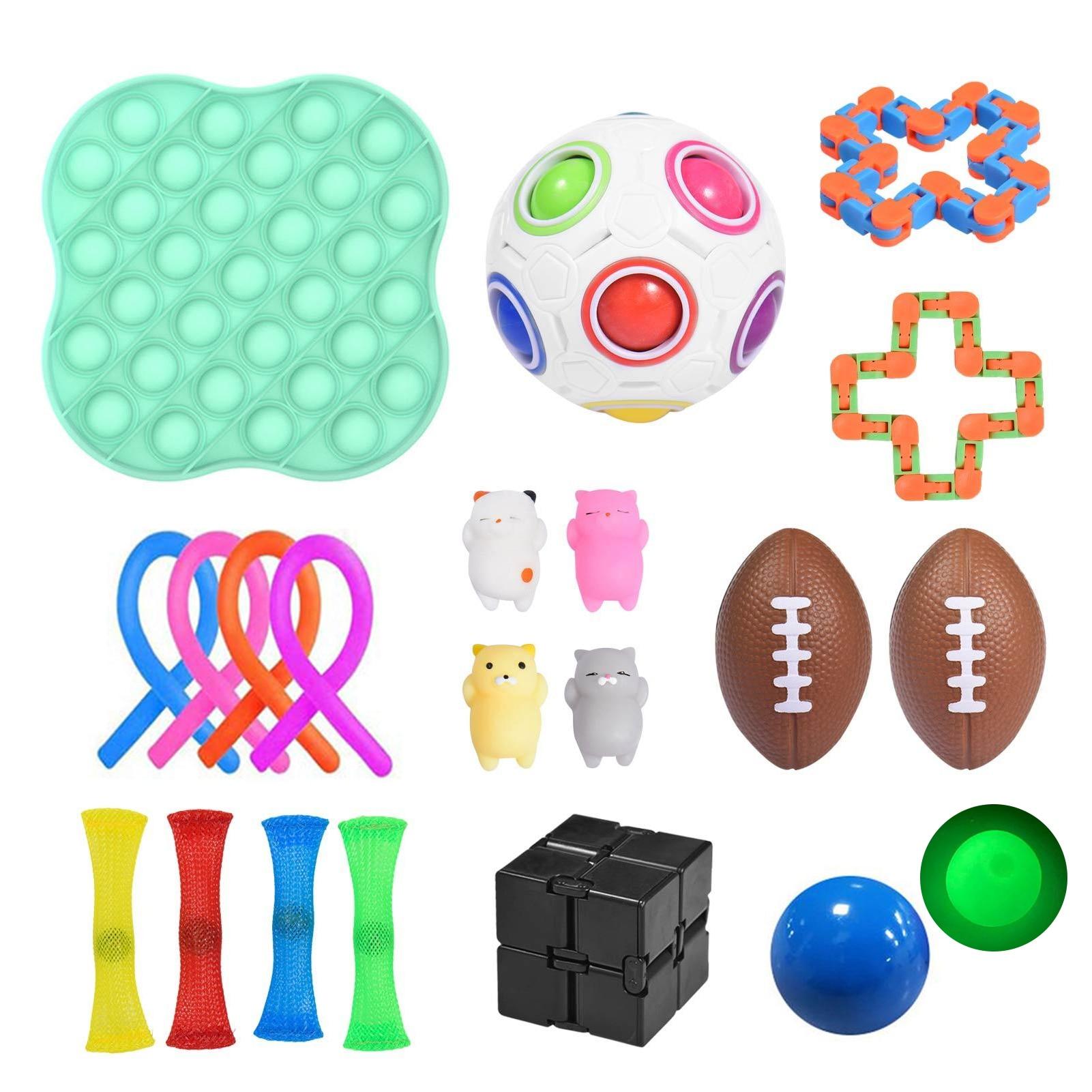 Paquet de 22 jouets sensoriels anti-Stress, pour enfants et adultes, anti-Stress
