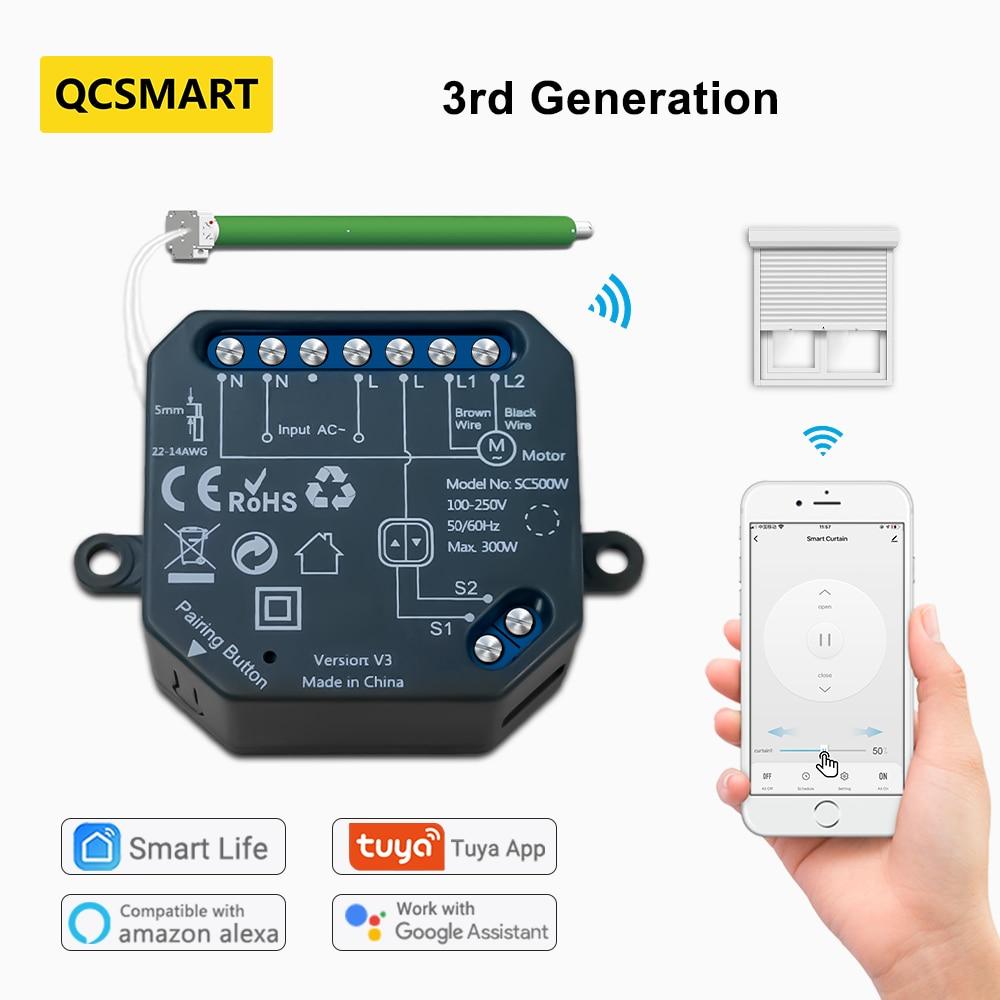 Модуль переключателя для оконных жалюзи Tuya Smart Home, Wi-Fi, Рольставни, управление через приложение, Google Home Alexa