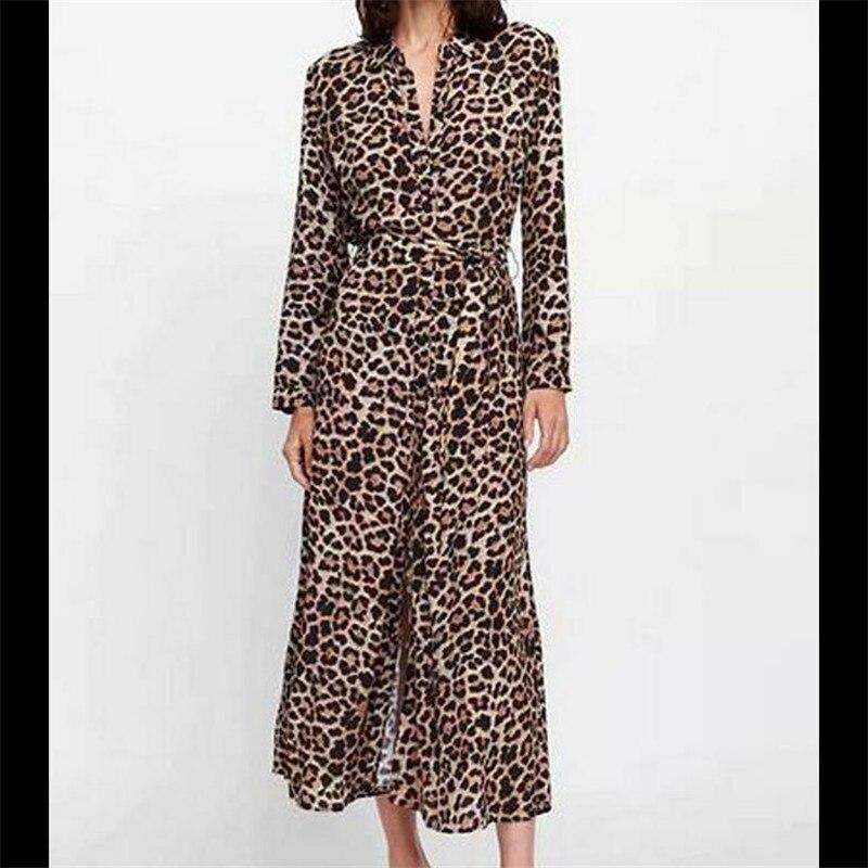 Vestido largo bohemio de playa de verano para mujer, Vestidos de Sol de leopardo con tiras para vacaciones