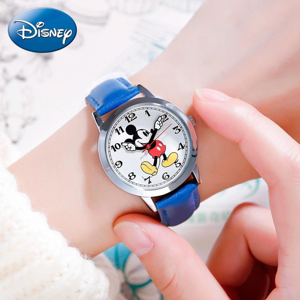 Детские водонепроницаемые часы с Микки Маусом, умные часы для мальчиков и девочек, черные и красные детские наручные часы для студентов, под...