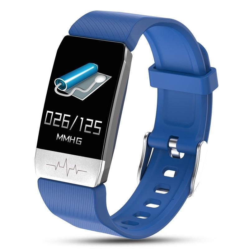 new T1 temperature measuring smart Bracelet ECG heart rate blood pressure blood oxygen sleep exercise reminder incoming enlarge