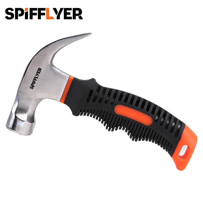 8 oz Mini multiherramienta martillo magnético de martillo pequeños martillos de Stubby martillo de garra corta martillo herramienta
