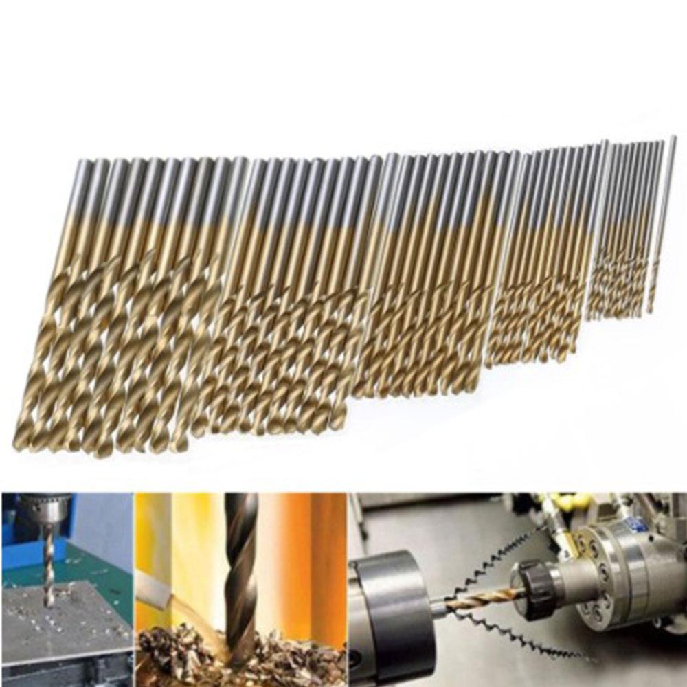 Molti tipi di punte elicoidali rivestite in titanio in acciaio ad - Punta da trapano - Fotografia 3