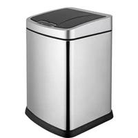 smart trash bin touchless sensor dustbin kitchen waste bucket indoor stainless steel square trash can 9l 12l