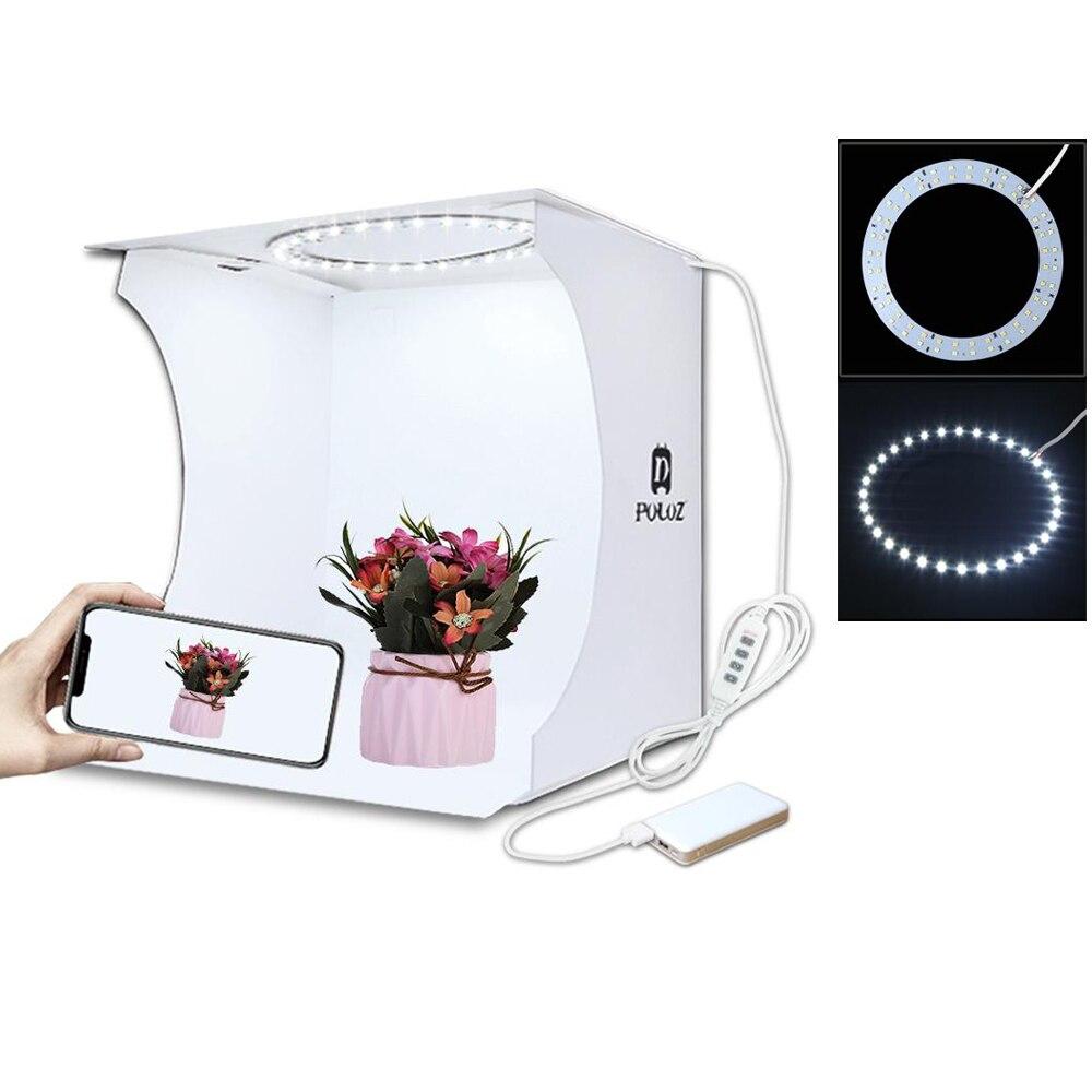 MAMEN Softbox Light Box Photography Studio Mini Ring Light Led Lighting Photo Room Box Video Shooting Tent Box Kit 6 Backgrops