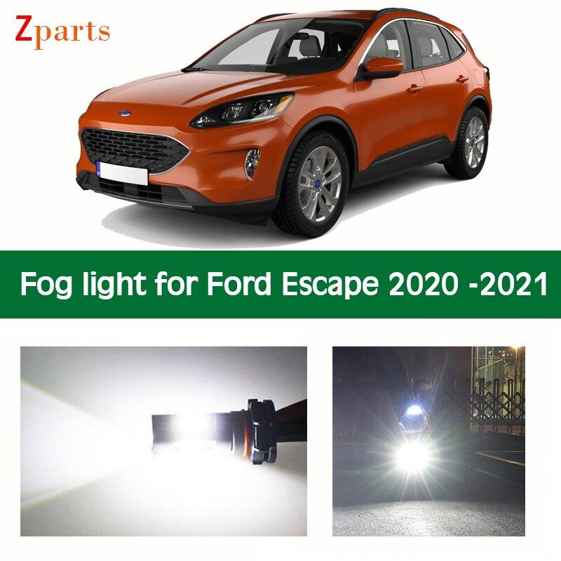 1 пара светодиодный льные светодиодные противотуманные фары для Ford Escape 2020, яркий белый свет, 12 В, Автомобильные лампы, аксессуары